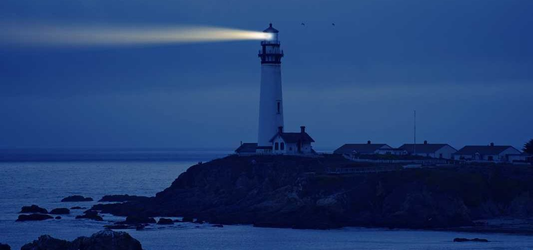 A lighthouse is a symbol of warning, guidance and safety.