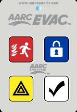 5 Button Remote - Evacuation, Lock Down, Duress, All Clear & Hidden Cancel