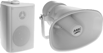 AARC EVAC Box and Horn Speakers